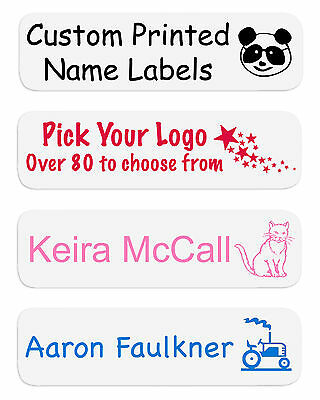 55 Iron On Name Labels Ideal for School Nursery, Free Delivery