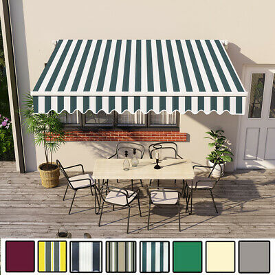 3 x 2.5m Manual Awning Garden Canopy Patio Sun Shade Retractable Shelter New