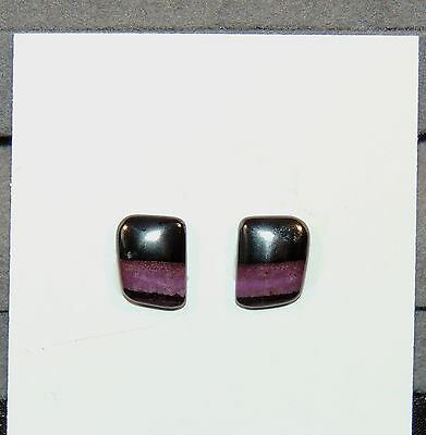 Sugilite Cabochons Pair of 10x8mm with 3mm dome from South Africa  (6880)