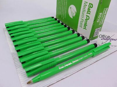 12 x BLACK Pentel R510 Rollerball Pen MEDIUM 1.0mm R510A