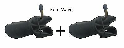 2  X Innertube ONLY BENT VALVE (4.10 /3.50 - 4) SACKTRUCK TROLLEY WHEELBARROW