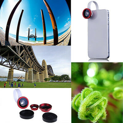 Universal Clip 3 In1 0.67X Fisheye Macro Wide Angle Lens for iPhone 6 Samsung S5