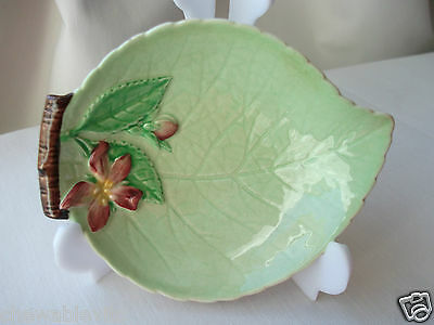 Vintage Carlton Ware Small Green Apple Blossom Butter Preserve Jam Pin Dish/Bowl