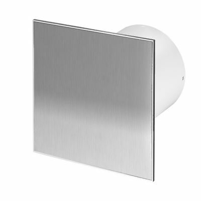 "Stainless Steel Bathroom Extractor Fan 100mm / 4"" with Timer Humidistat WTI100H"
