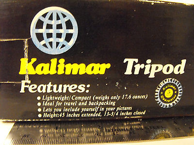 """Kalimar 45"""" Camera Tripod K493 PS-3 Model - Used With Box - Free S&H"""