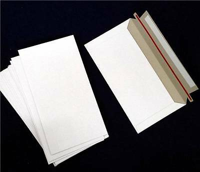 400 128x240mm 300gsm Hard DLX Envelopes Mailers Semi Rigid White DL Envelope