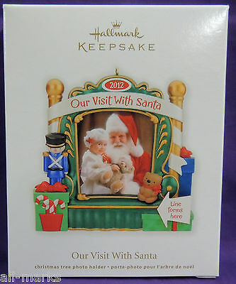 Our Visit With Santa ~ Hallmark ~ 2012~photo holder ~ MIB