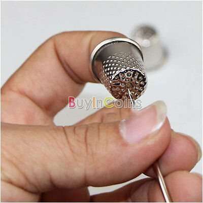 18mm Finger Thimbles Metal Shield Sewing Grip Protector Pin Needle Shield HFAU