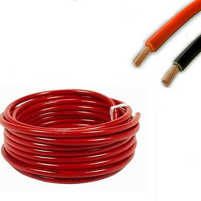 10mm sq Automotive Marine Battery Cable 70Amp All Lengths Black & Red