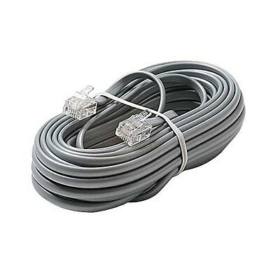 """Eagle 8/"""" Inch Phone Cord Ivory 4-Conductor Line Modular RJ11 RJ-11 Extension"""