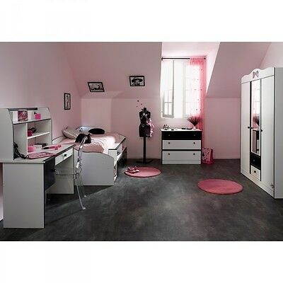 kombi 4tlg bett schrank kommode schreibtisch lovely light. Black Bedroom Furniture Sets. Home Design Ideas