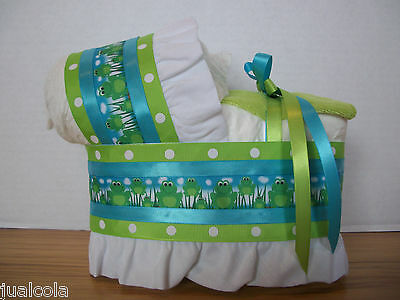 Frog Froggy Boy Diaper Bassinet Baby Shower Centerpiece Table Decoration