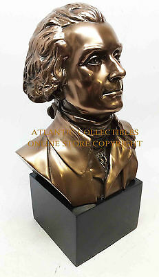 """Thomas Jefferson Sculpture Bust 9.5"""" Tall Founding Father of USA Independence"""