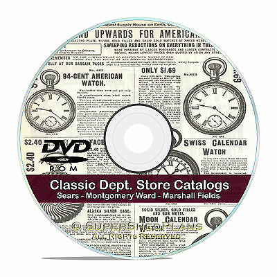 Vintage Department Store Catalogs, Sears, Marshall Fields, more, CD DVD V51