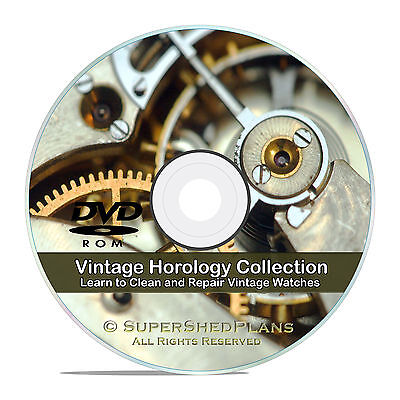 Horology Watch Repair Library, Make, Adjust Service Clean Vintage Watches CD V61