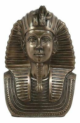 "Egyptian Decorative Pharaoh King Tut Bust in Bronze Color 6.5"" Tall Sculpture"