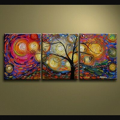 Huge Hand Painted Abstract Floral Painting On Canvas Contemporary Wall Art #2262