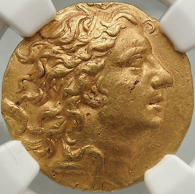 Certified NGC:AU, MITHRADATES VI,Gold Stater, 84 BC Portrait of Fine Style.Rare!