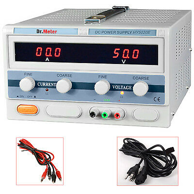 Dr Meter HY5020E 50V/20A 1000W Lab Grade Regulated Variable DC Power Supply