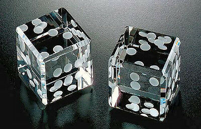 "Amlong Crystal Pair of Dice 1.5"" With Gift Box"