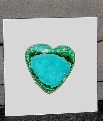 Malachite and Chrysocolla Heart Cabochon 23x23mm (6931)