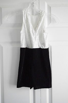Revolution Girls Competition Black and White Size Large Child Dance Outfit