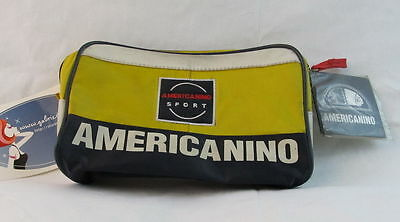 Borsellino astuccio porta documenti AMERICANINO Giallo NUOVO vintage AS51