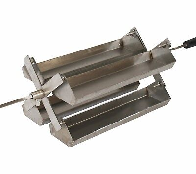BBQ Rotisserie Spit Carousel 4 Tray System for Gas or Charcoal Barbecue
