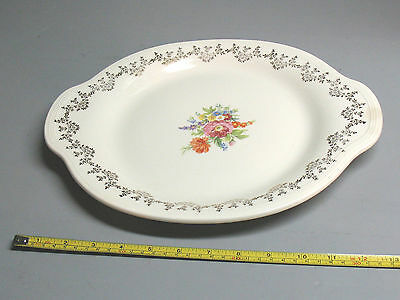 EDWIN M. KNOWLES  CHINA    No. 43- 8  SERVING  PLATTER   13  1/4'' X  10  5/8''