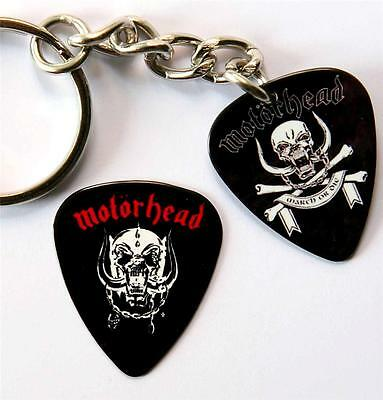 Motorhead Double Sided Guitar Pick Keyring plus Matching Plectrum