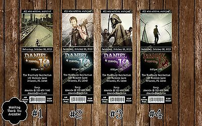 Walking Dead Birthday Party Invitation Printed- 20 Pack - 3 Designs