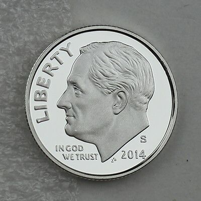 2014-S Silver Franklin D Roosevelt Dime Deep Cameo Proof in Archival Capsule