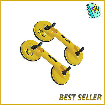 2X Heavy Duty Dual Suction Cup Pad Glass Lifting Metal Door Lifter