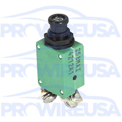 Klixon 2TC2-15 Circuit Breaker 15 Amp Aviation Mil Spec MS3320-15 Motec Nascar