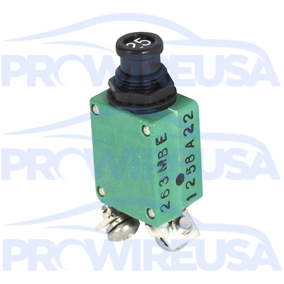 Klixon 2TC2-25 Circuit Breaker 25 Amp Aviation Mil Spec MS3320-25 Motec Nascar