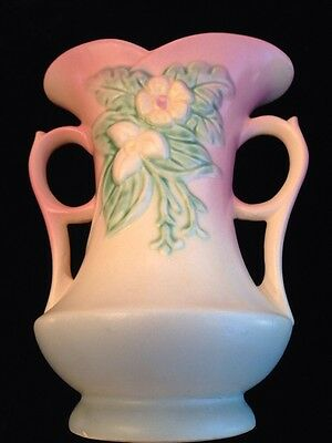 "Hull Wildflower W-6 7 1/2"" Vase With Handles"