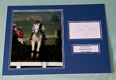 Richard Dunwoody Desert Orchid Hand Signed Autograph Photo Mount Horse Racing