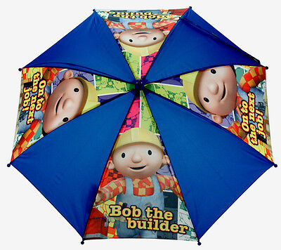 Official Bob the Builder On to the Next Job Kids Navy Blue Umbrella Licensed