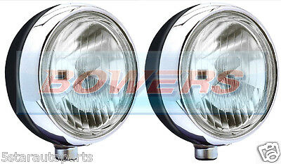 """New Pair Of Stainless Steel Chrome 7"""" Cibie Oscar H3 Spot/driving Lamps/lights"""