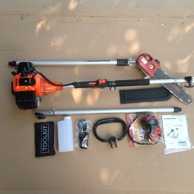 LONG REACH Petrol Chainsaw SWIVEL Pruner & Ext. UP TO 3 METRES