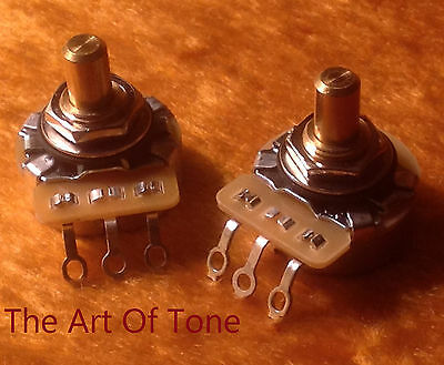 PAIR (2X) - CTS 250K Dish Back SOLID Shaft - Potentiometers / Pots - Tele