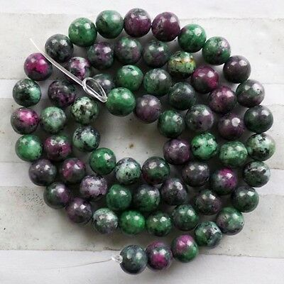 GCQ091 Beautiful 1 strand Ruby in Fuchsite round loose bead 15.5 inch 4mm