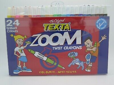 Texta Zoom Twist Wind Up Crayon 24/Pack 0248550^