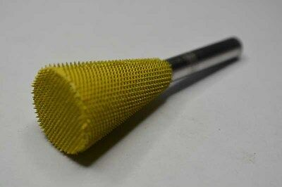 "Saburr-Tooth 14DT34 Yellow 1/4"" Shank Dove Tail 3/4"" (Fine Grit)"