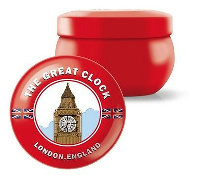 Fringe Big Ben Red HenryTin Molded Wax Candle in Vanilla Orange Fragrance