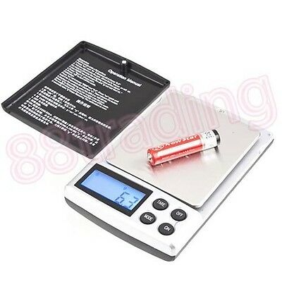 Small Mini Digital Pocket Size Weighing Weigh Scale 0.1g - 1kg up to 2kg Coin
