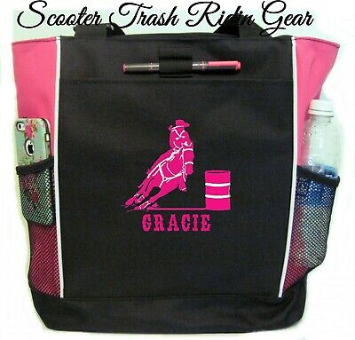 Personalized Barrel Racer Racing PINK Tote Bag horse rodeo NEW - MORE COLORS