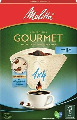 MELITTA GOURMET MILD COFFEE FILTER PAPERS 1 x 4 CUP 80 PACK MILD COFFEE  6687878