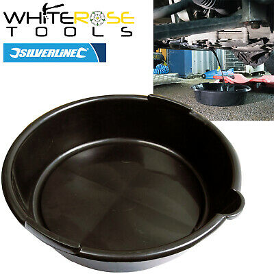 Silverline 675089 6 Litre Oil Fluid Drain Pan Car Service Equipment Transfer