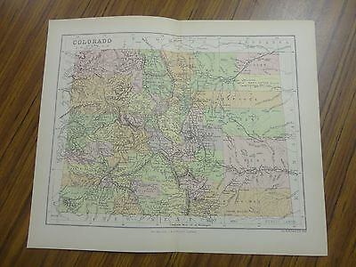 Nice color map of the State of Colorado.  Printed 1891.  Chambers Map.